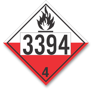 Placard Spont. Combustible #3394
