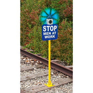 Spur Track Guardian Hinged Sign Holder with Solar Light