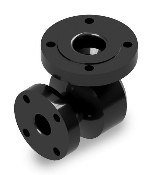 Pipe Elbow 4 inch x 2 inch ANSI flange x 90° 7 inch height 5-1/4